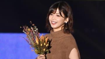 「Rakuten GirlsAward 2019 AUTUMN/WINTER」のノンノステージに登場した欅坂46の渡邉理佐さん