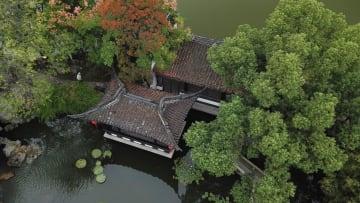 秋色深まる包公園 安徽省合肥市
