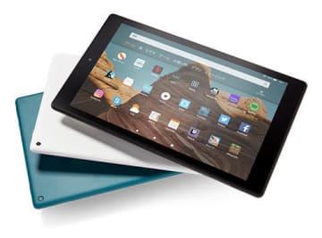 3色のカラバリを用意した「Amazon Fire HD 10 タブレット」の新世代モデル