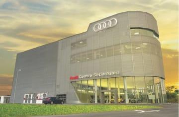 シャアラムに正式オープンした「アウディ・センター・セティアアラム」(マツシマホールディングス提供)