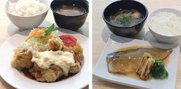 揚げ物料理の一部を値上げ(左)、魚料理を値下げ