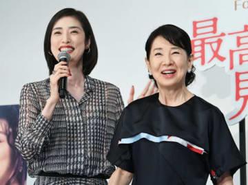 映画「最高の人生の見つけ方」の公開直前イベントに登場した天海祐希さん(左)と吉永小百合さん