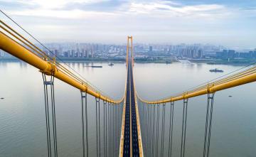 長江初の2層式道路橋が開通