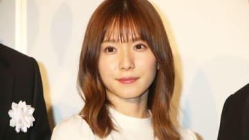 映画「蜜蜂と遠雷」の試写会後の会見に登場した松岡茉優さん