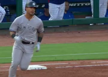 Yankees rookie Gleyber Torres homers twice vs. Rangers