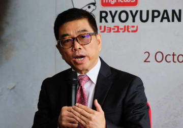"Mynews CEO Dang Tai Luk vows to open ""more than 100 stores"" next year as he speaks in Petaling Jaya in the state of Selangor on Oct. 2, 2019."