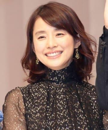 映画「マチネの終わりに」の完成披露試写会に出席した石田ゆり子さん