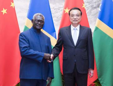 李克強総理、ソロモン諸島首相と会談