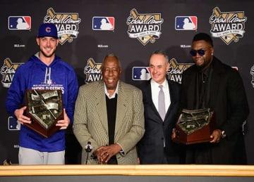 Kris Bryant, David Ortiz Receive Hank Aaron Award 2016 Before World Series Game 2