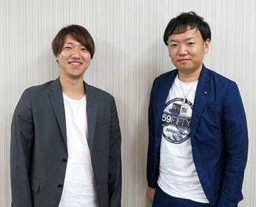 プロダクトオーナーを務める前澤俊樹氏(右)と開発担当の西田昂弘氏
