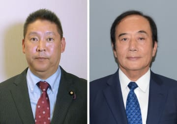 左から立花孝志氏、上田清司氏