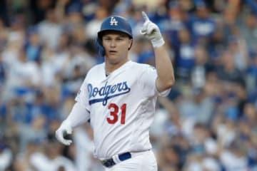 初回に二塁打を放ったドジャースのジョク・ピーダーソン【写真:AP】
