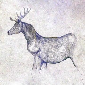 写真を拡大 「馬と鹿」