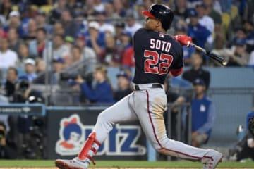 8回に同点となるソロ本塁打を放ったナショナルズのフアン・ソト【写真:Getty Images】