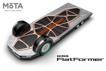 日野 モビリティコンセプト「FlatFormer」世界初公開・参考出品 東京モーターショー2019出展