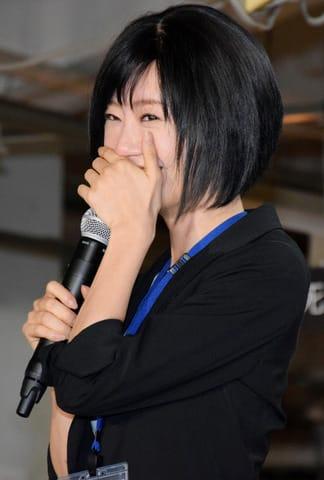 連続ドラマ「死役所」の会見に出席した女優の松本まりかさん
