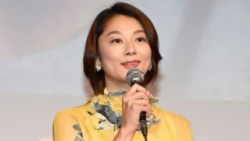 連続ドラマ「俺の話は長い」の完成披露試写会に出席した小池栄子さん