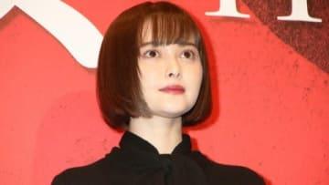 映画「地獄少女」の完成披露試写会に登場した玉城ティナさん