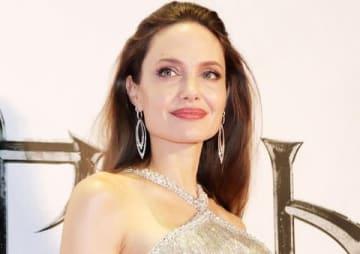 映画「マレフィセント2」のジャパンプレミアに出席したアンジェリーナ・ジョリーさん