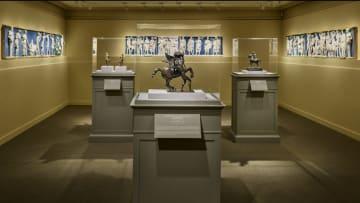 Exhibition gallery view of Bertoldo di Giovanni: The Renaissance of Sculpture in Medici Florence; photo: Michael Bodycomb