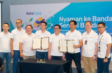 アンカサ・プラ2は、アストラ・デジタル・インターナショナルと、スカルノ・ハッタ国際空港のデジタル分野の事業で協力覚書を締結した(同社提供)