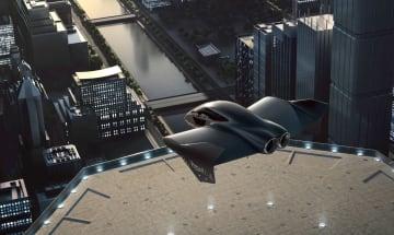「空飛ぶ乗り物」のイメージ(ポルシェ提供・共同)