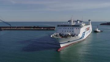 中国と韓国を結ぶ大型定期船が運航開始 山東省威海