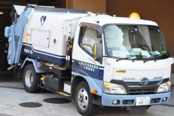 横浜市のごみ収集車