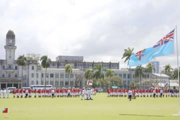 フィジー独立49周年記念式典 首都スバで