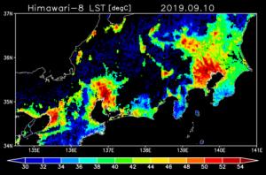 台風15号通過後の猛暑、地表面温度は50℃以上になっていた 千葉大学