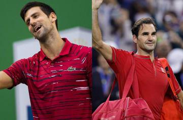 「ATP1000 上海」でのジョコビッチ(左)とフェデラー(右)
