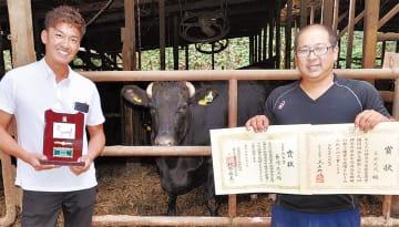 長崎代表(右)と中川食肉・中川大輔さん