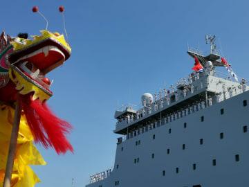 中国海軍の訓練艦「戚継光」、東ティモール友好訪問終える