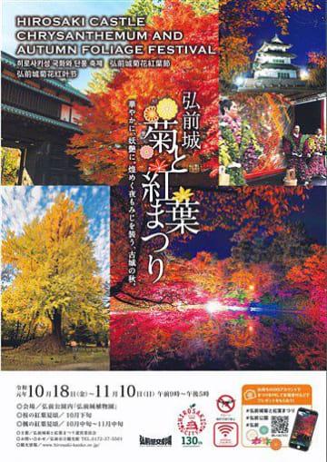 弘前城菊と紅葉まつりのポスター