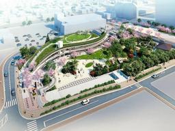 宝塚市文化芸術センター・庭園の完成予想図(同市提供)