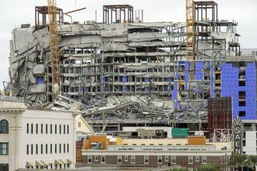米ニューオーリンズで、大部分が倒壊した建設中のホテル=12日(Chris Granger/The Advocate提供・AP=共同)