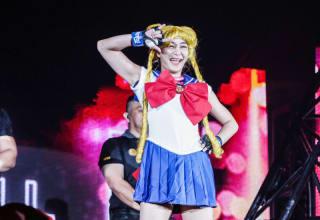 タイでモデル活動をしている石毛はセーラームーンのコスプレで登場 Photo by OneChampionship