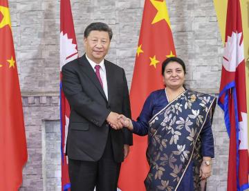 習近平主席、ネパール大統領と会見 戦略的協力パートナーシップ構築へ