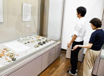 貴重な出土品が並ぶ展示会場