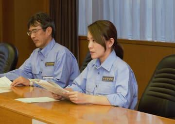市原市を視察後、県庁を訪問した今井内閣府政務官=13日午後4時15分ごろ、千葉県庁