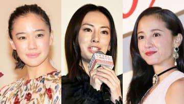 (左から)蒼井優さん、北川景子さん、沢尻エリカさん