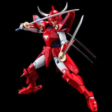 「鎧伝サムライトルーパー」の烈火のリョウのアクションフィギュア「超弾可動 鎧伝サムライトルーパー 烈火のリョウ」(C)SUNRISE