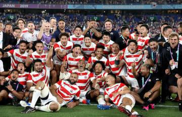 2019 ラグビーW杯 日本が初のベスト8進出 写真:AP/アフロ