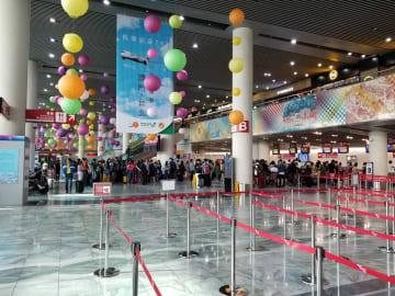 マカオ国際空港の旅客ターミナルビル(写真:CAM)