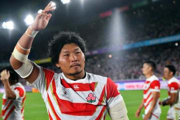 2019 ラグビーW杯 日本が初のベスト8進出 稲垣啓太 /写真:PA Images/アフロ