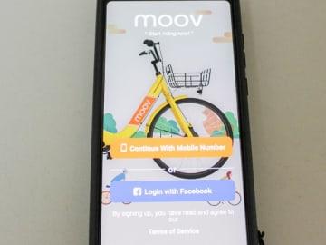 LTAは、自転車シェアサービス事業を提供する地場ムーブモビリティーにフルライセンスを付与したと発表した(NNA撮影)