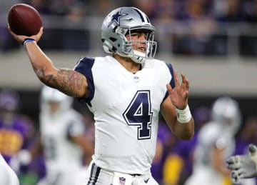 Dak Prescott, Cowboys Top Vikings 17-15 in Mike Zimmer's Absence