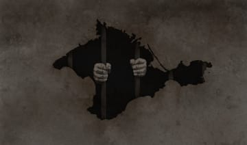 Since the annexation of Crimea in 2014, the Russian authorities have detained and arrested hundreds of Crimean Tatars and other activists. Illustration by Tom Venner, used with permission.