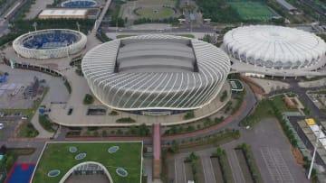 世界軍人運動会間もなく開幕 テニス会場を鳥瞰