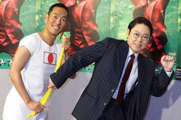 NHKの大河ドラマ「いだてん~東京オリムピック噺(ばなし)~」で主演を務める中村勘九郎さん(左)と阿部サダヲさん